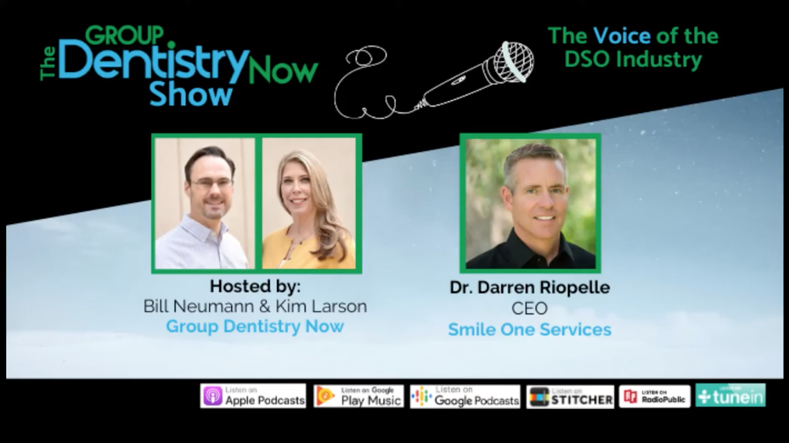 Dr. Riopelle featured on Group Dentistry Now Podcast